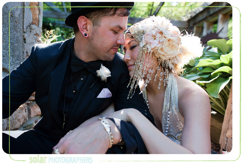 Beautiful emotional portrait of a bride and groom.