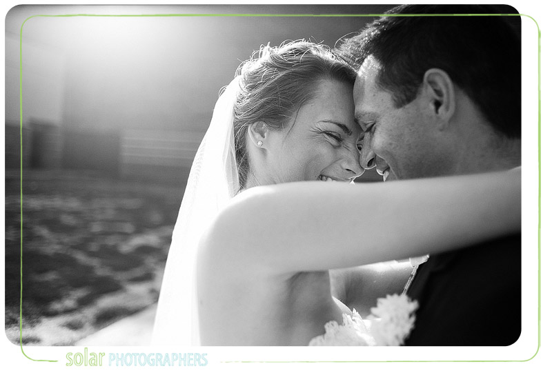 Beautiful bride and groom portrait.