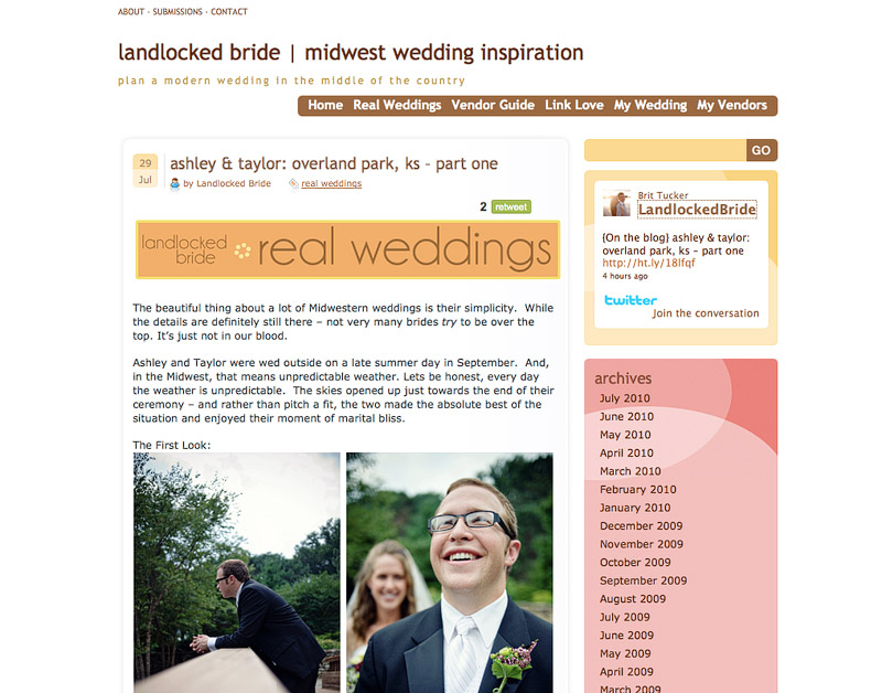 Landlocked Bride Blog