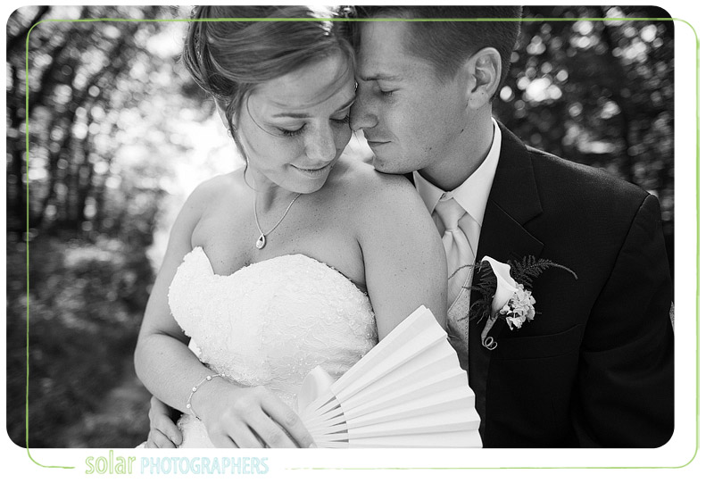 A beautiful black and white bride and groom portrait.