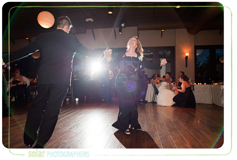 A fun mother son dance.