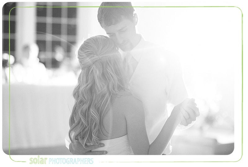 Bride and groom share their first dance at Hawthorne House in Kansas City.