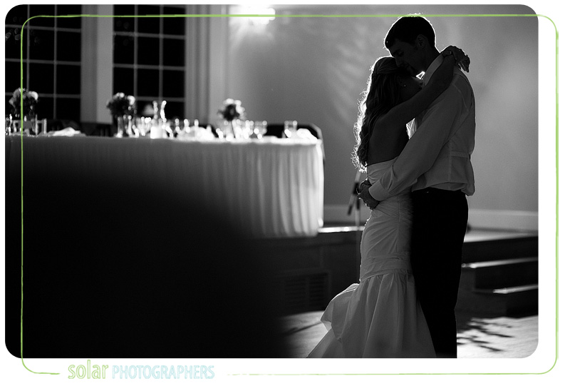 A beautiful back lit first dance shot.