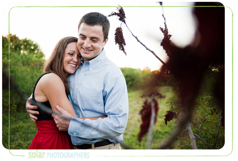 Cute engagement picture taken at James A Reed wildlife refuge.