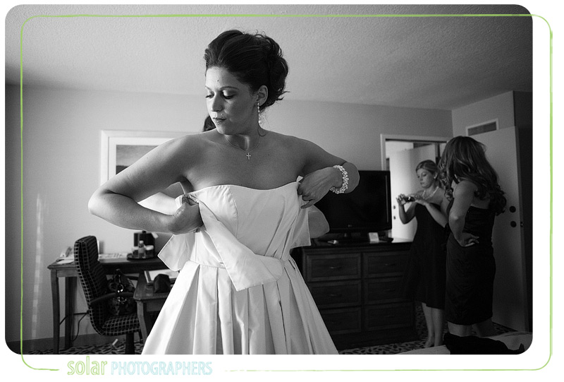 Bride getting ready for her Kansas City wedding.