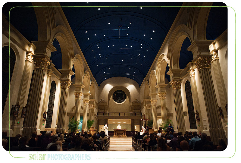 Gorgeous wedding at the cathedral of the Immaculate Conception in Kansas City.
