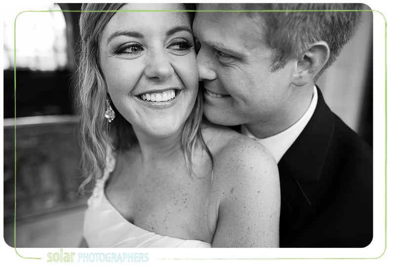 Beautiful bride and groom portrait at Union Station in Kansas City.
