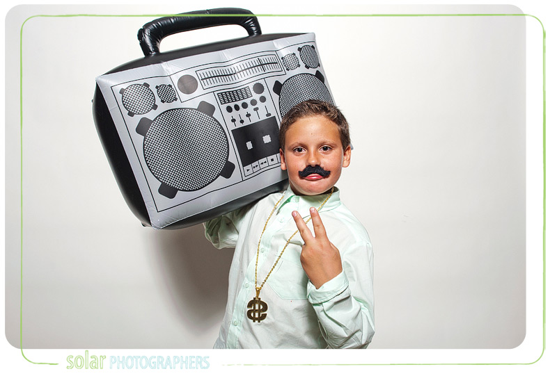 Awesome boombox in the Kansas City photo booth.