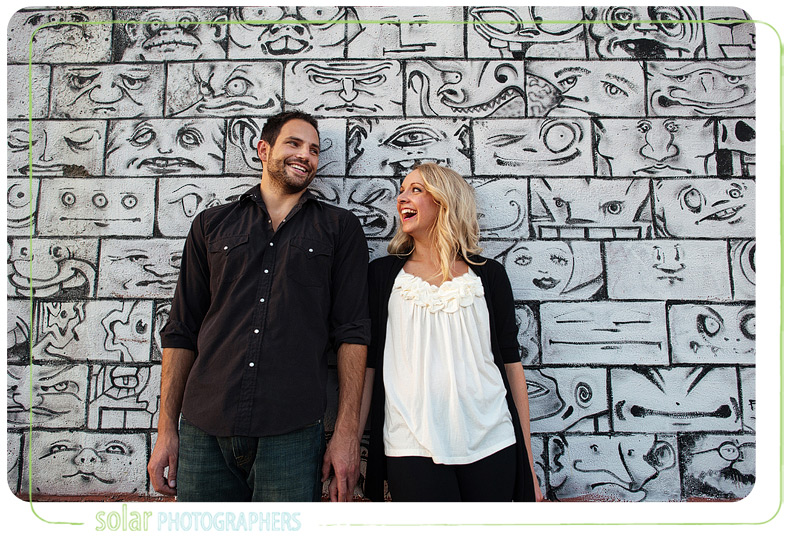 Awesome engagement picture taken in downtown Kansas City.
