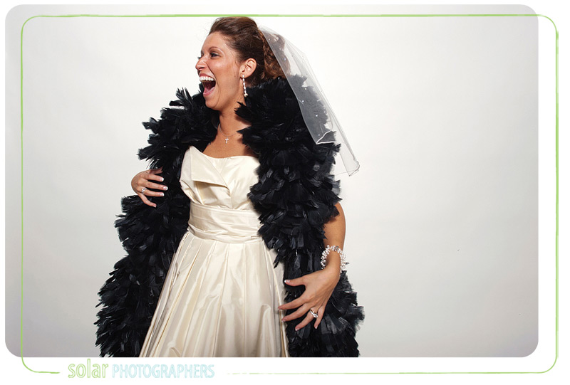 Bride in a Kansas City photo booth.