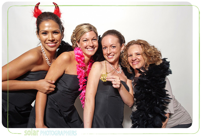Bridesmaids in the photo booth.