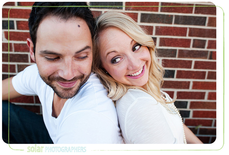 Cute couple portrait in Kansas City.