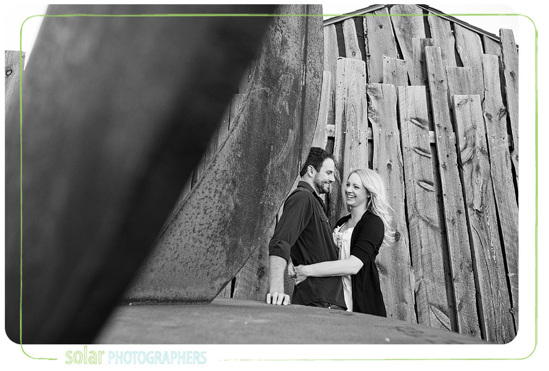 Cute engagement picture taken in Kansas City.