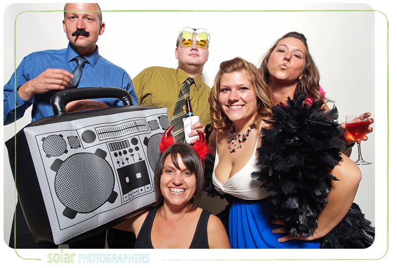 Fun Kansas City photo booth picture.