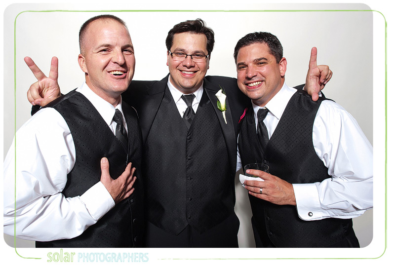 Groom with his two best men.