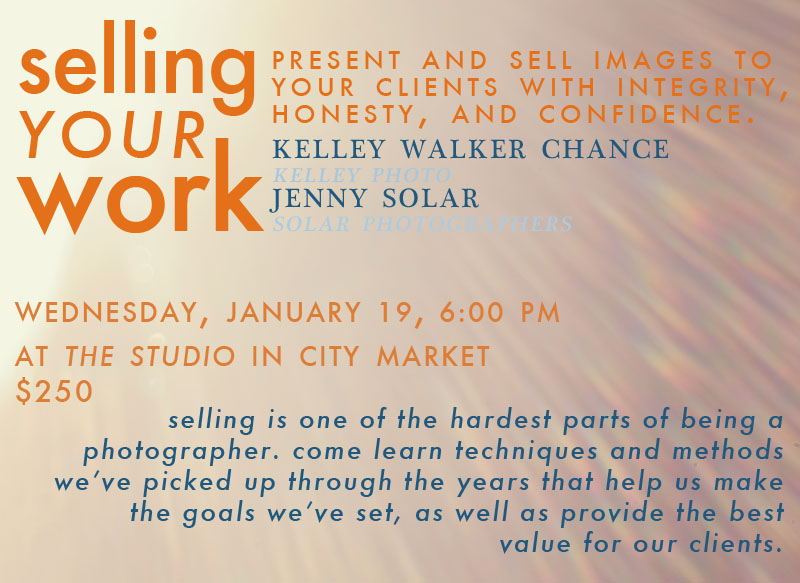info for kelley photo and solar photographers joint selling workshop.