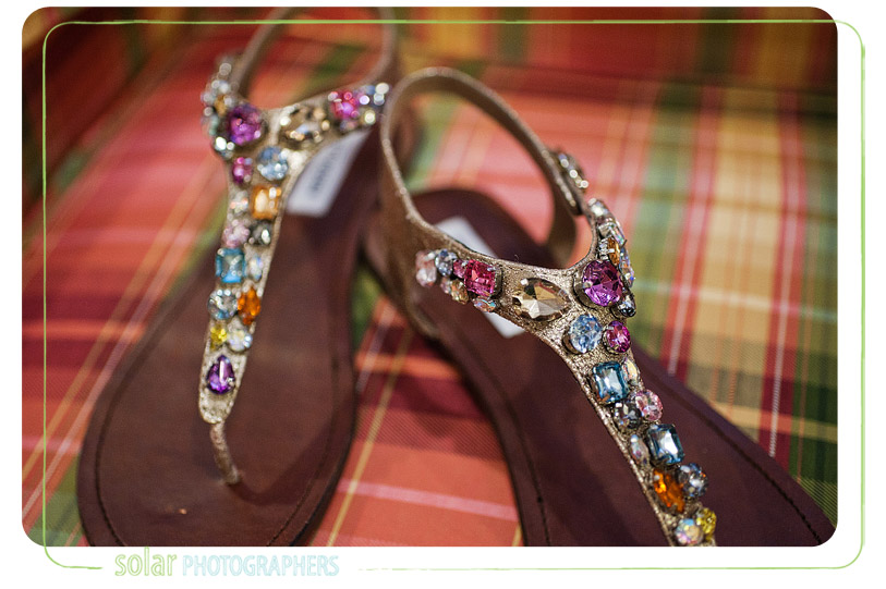 Awesome wedding shoes.