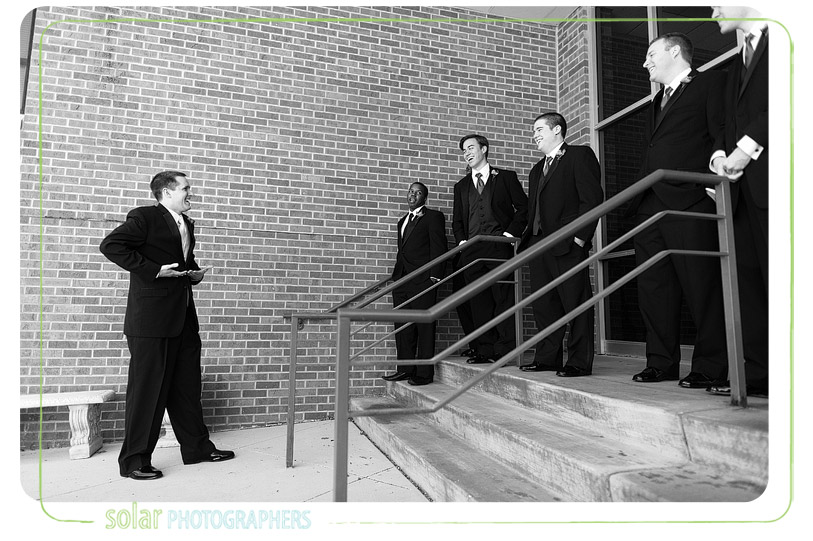 Candid groomsmen picture.