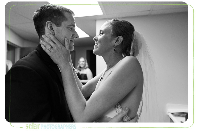 Beautiful bride and groom moment.