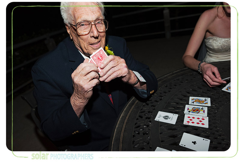 Grandpa with an ace up his sleeve.