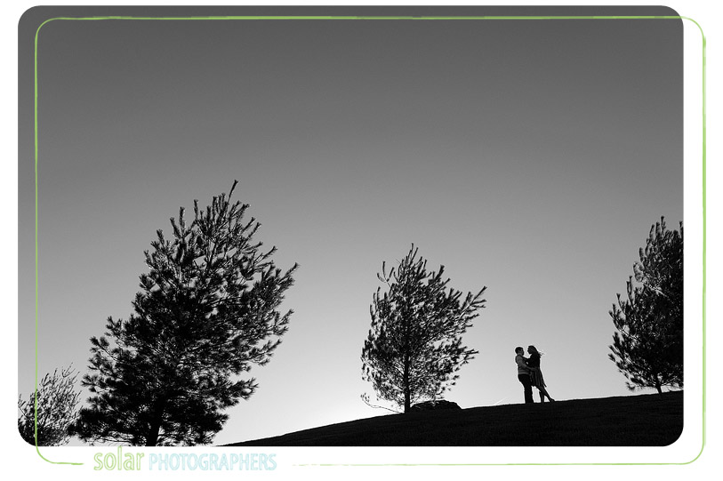 Beautiful silhouette engagement picture.