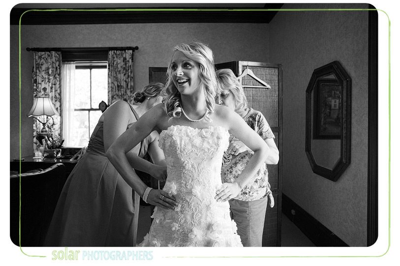 Bride getting ready at loose mansion.