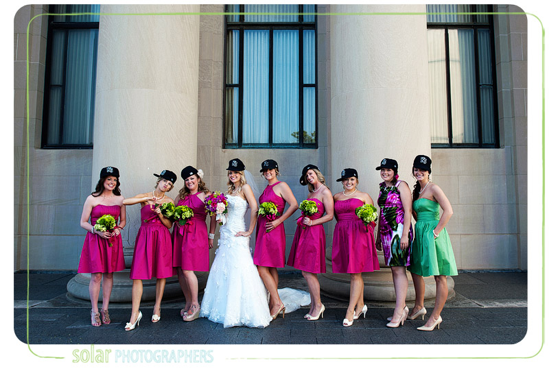 Fun bridal party portrait.