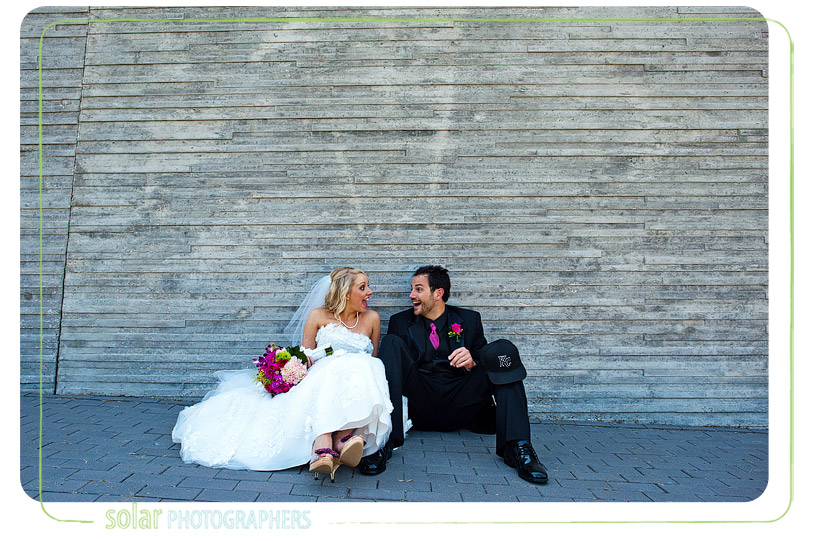 Fun bride and groom picture.