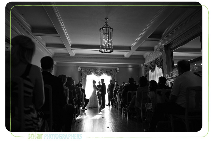 Beautiful loose mansion wedding ceremony.
