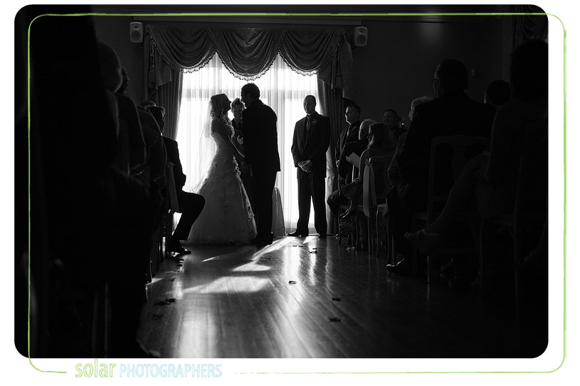 Awesome loose mansion wedding ceremony.