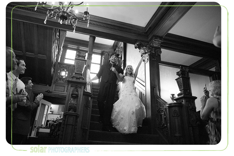 Sweet loose mansion wedding picture