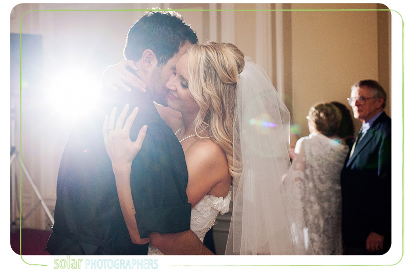 Awesome bride and groom first dance picture