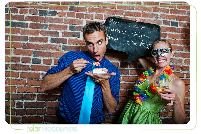 Awesome photobooth at a kansas city wedding.