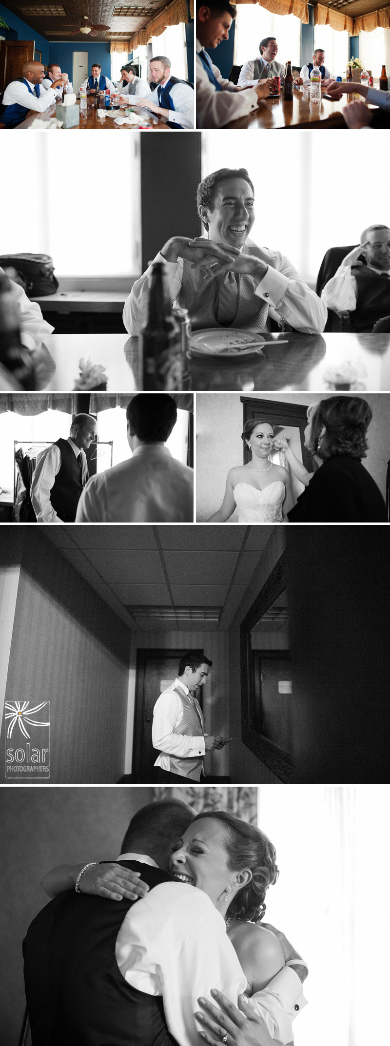 Candid pre ceremony wedding pictures in Kansas City.