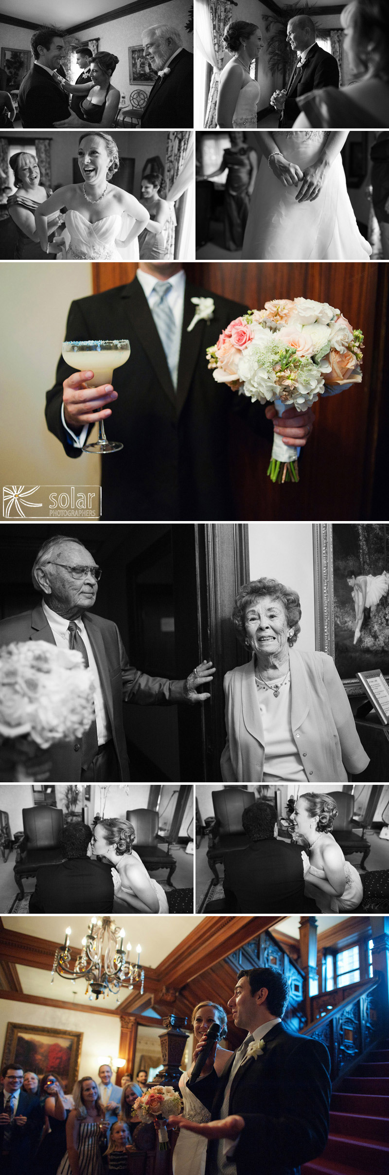 Candid wedding pictures in Kansas City.