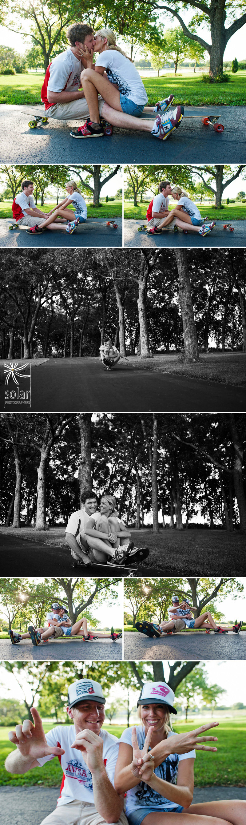 Fun longboarding engagement pictures.