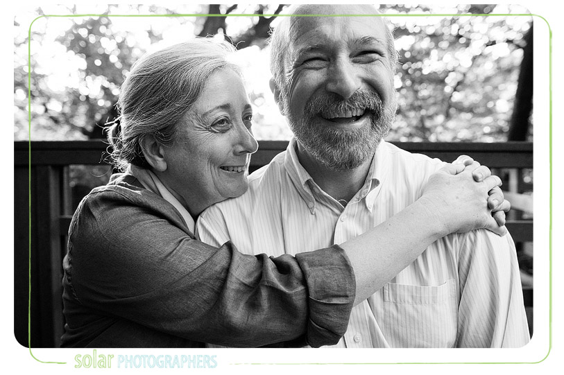 Fun portrait of a married couple.