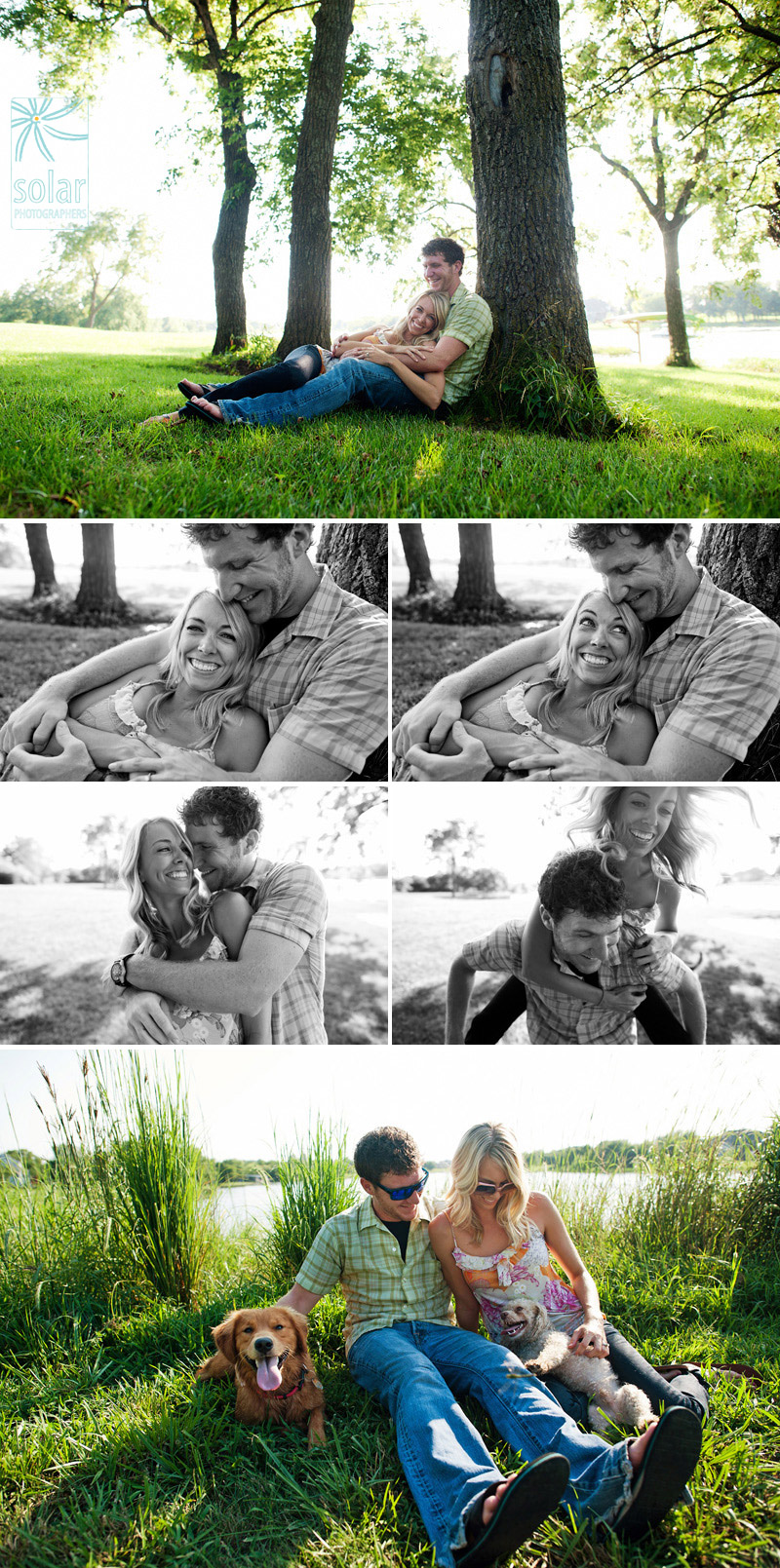 Sweet country engagement pictures.