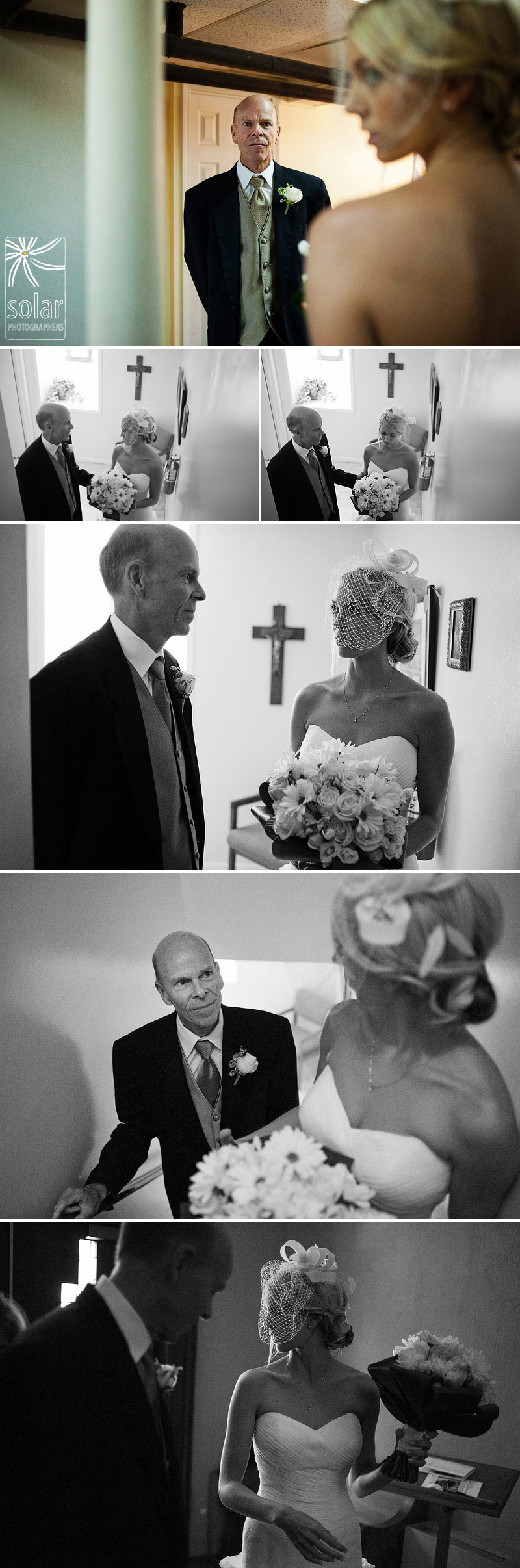 Beautiful father daughter moments before her wedding.