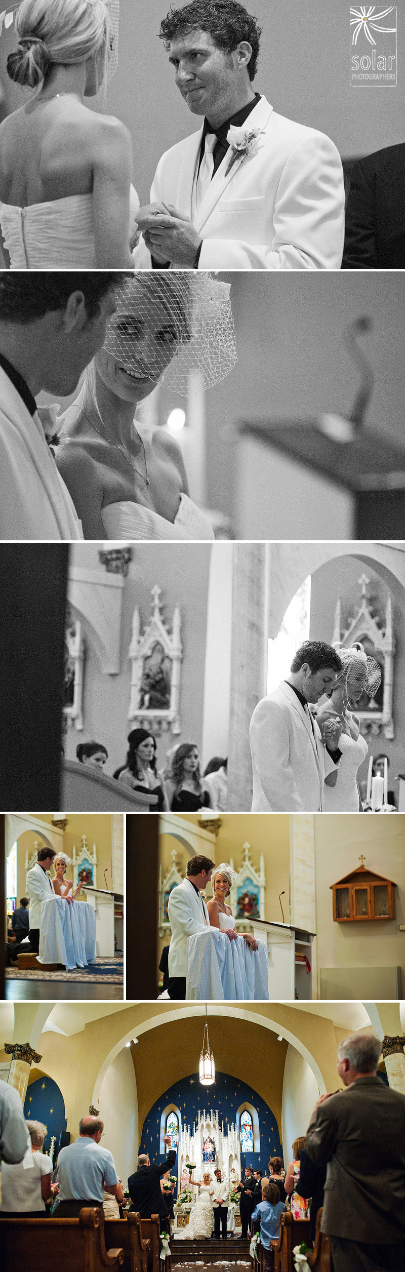Beautiful wedding ceremony at Queen of the Holy Rosary WEA in Kansas.