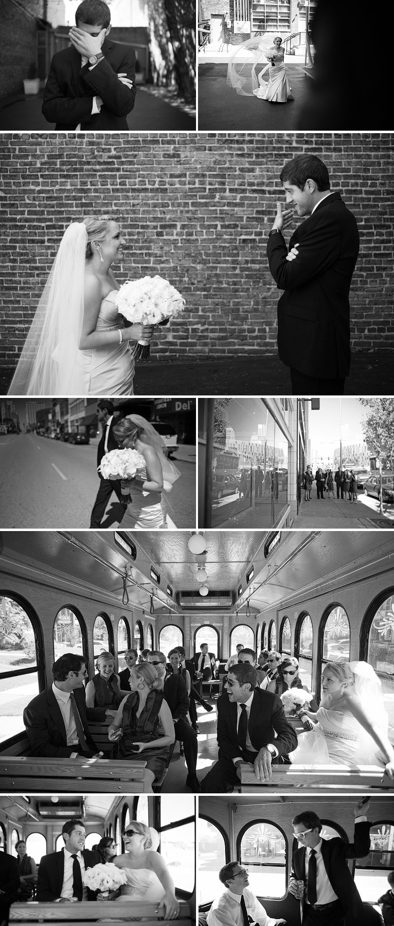 Fun wedding pictures in Kansas City.