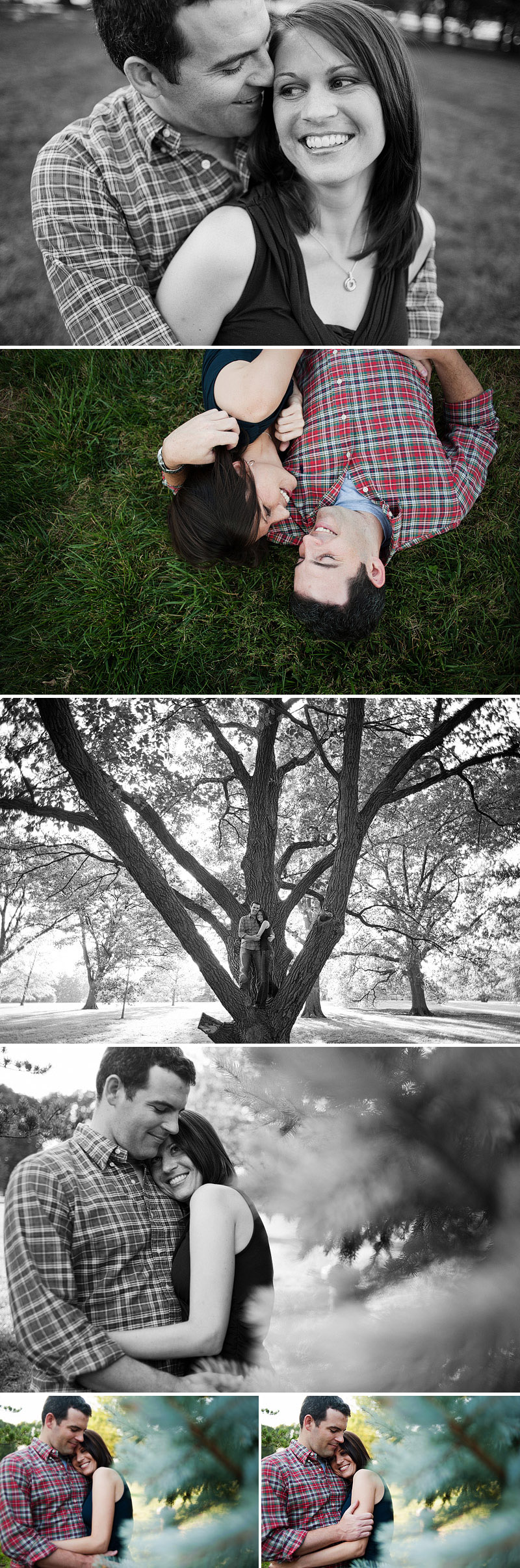 Awesome Loose Park engagement pictures.