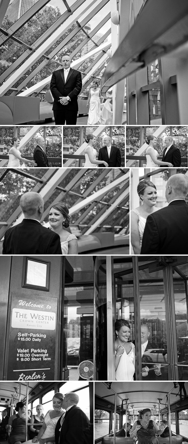 Beautiful first look between a bride and groom.