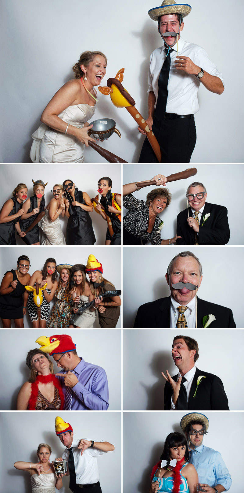 Fun photo booth pictures.
