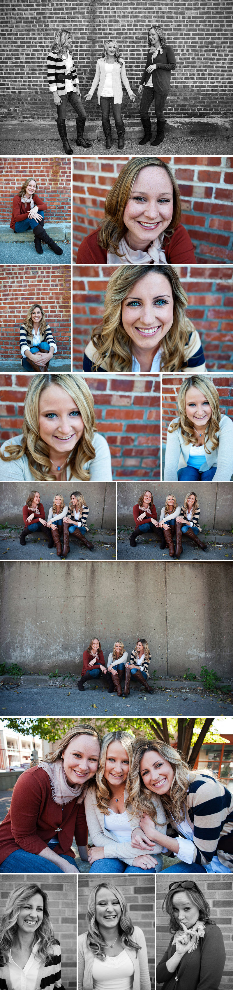Fun pictures of sisters in Kansas City.