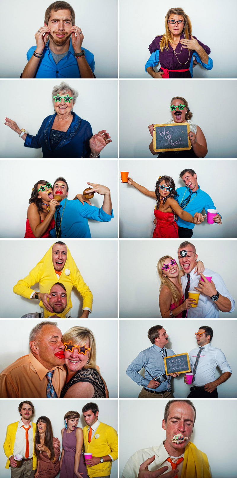 Wedding photo booth in Kansas City.