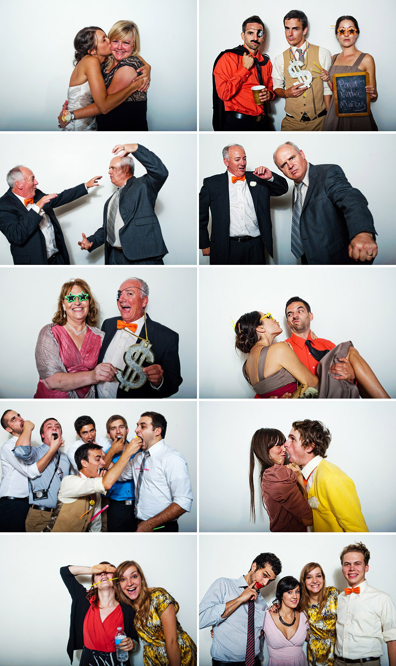 Photobooth at a wedding in Kansas City.