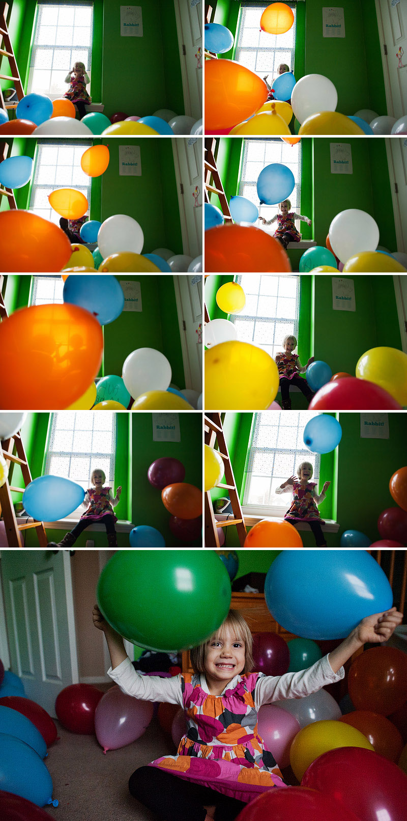 Balloon fun with a 5 year old.