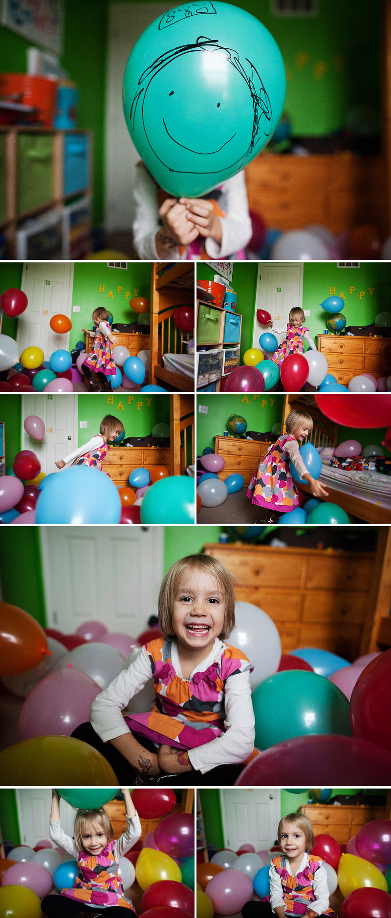 Lots and lots of balloons in my daughter