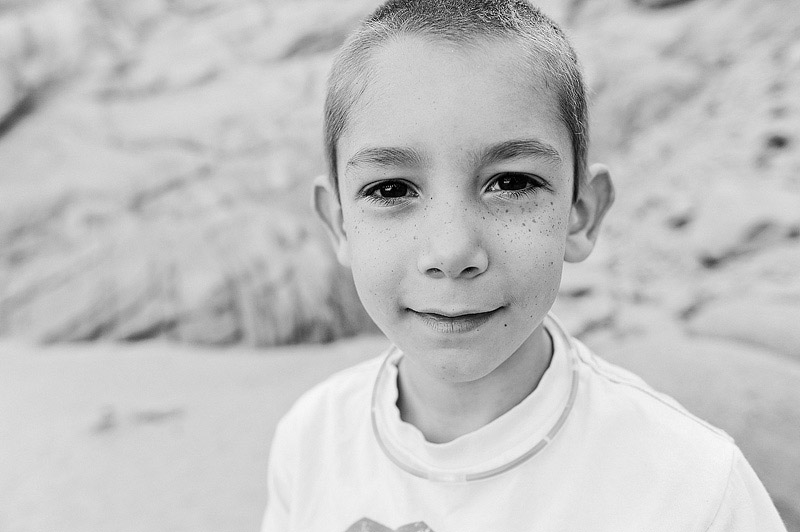 Portrait of my son on Lover's Beach in Cabo, Mexico.